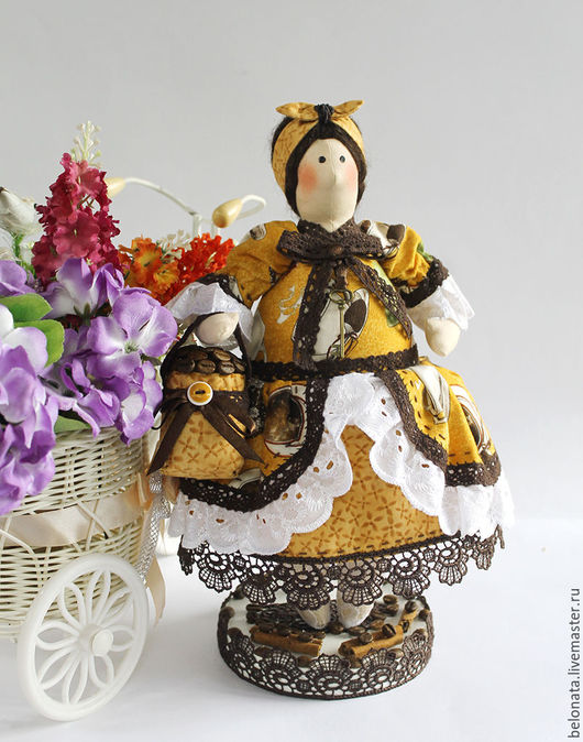 Ароматизированные куклы ручной работы. Ярмарка Мастеров - ручная работа. Купить Кофейная Толстушка Федора.. Handmade. Комбинированный, подарок подруге