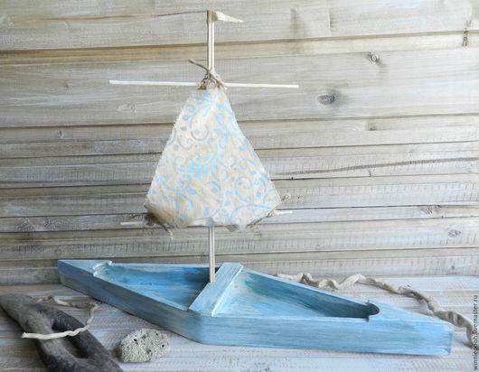 Детская ручной работы. Ярмарка Мастеров - ручная работа. Купить Кораблик В старой гавани.... Handmade. Голубой, ретро, гавань