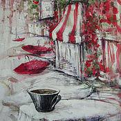 Картины и панно ручной работы. Ярмарка Мастеров - ручная работа Снова дождливое утро.... Handmade.