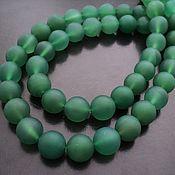 Материалы для творчества handmade. Livemaster - original item Chalcedony smooth matte ball beads 12mm. Handmade.
