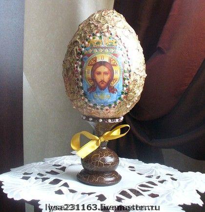 Яйца ручной работы. Ярмарка Мастеров - ручная работа. Купить Яйцо интерьерное большое. Handmade. Декупаж, яйцо пасхальное
