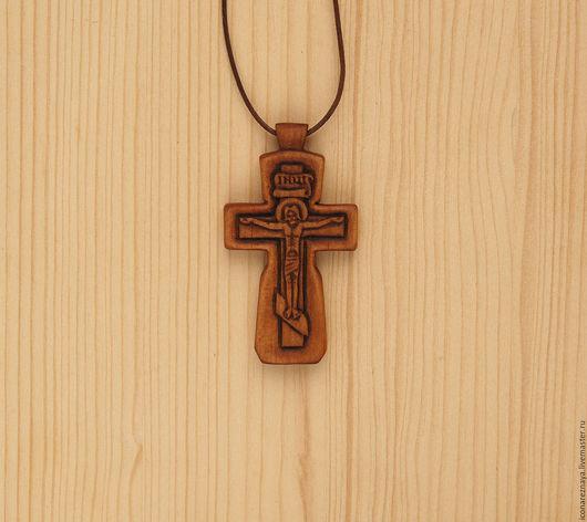 Кипарисовый нательный крестик
