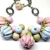 Украшения handmade. Livemaster - original item Necklace lampwork Marshmallows. Handmade.