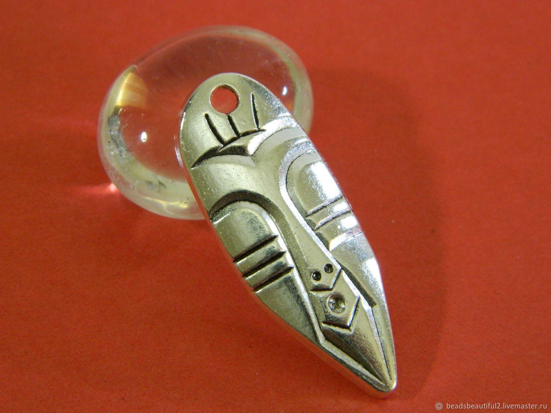 Connector Suspension 'Mask' color silver, Pendants, Saratov,  Фото №1