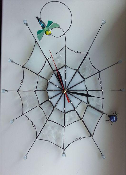 """Часы для дома ручной работы. Ярмарка Мастеров - ручная работа. Купить Часы """" Паутинка"""". Handmade. Часы настенные"""