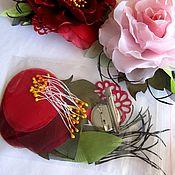 Украшения ручной работы. Ярмарка Мастеров - ручная работа набор-выкройка розы из ткани,  розовая. Handmade.