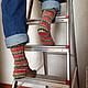 Носки, Чулки ручной работы. Заказать Носки вязаные Christmas. Pentu ручное вязание. Ярмарка Мастеров. Вязаные носки, рождество