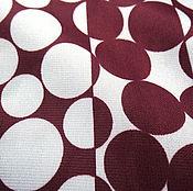 Материалы для творчества ручной работы. Ярмарка Мастеров - ручная работа Ткань круги бело-бордовые. Handmade.
