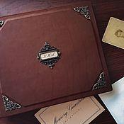 Фотоальбомы ручной работы. Ярмарка Мастеров - ручная работа Кожаный фотоальбом «Поколения» 21х25 см. Handmade.