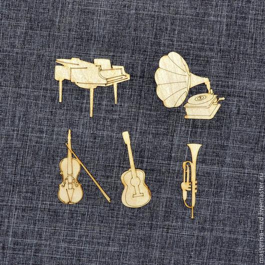 Д-011. Набор декоративных элементов `Музыка`.
