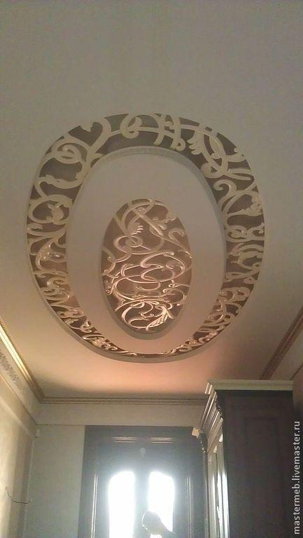 Декор поверхностей ручной работы. Ярмарка Мастеров - ручная работа. Купить Потолок резной. Handmade. Резьба по дереву, резьба