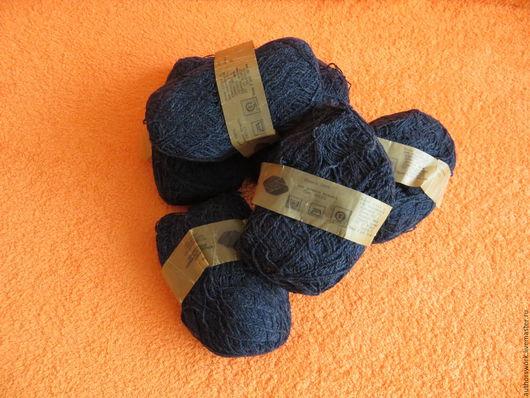 Вязание ручной работы. Ярмарка Мастеров - ручная работа. Купить Пряжа. Handmade. Темно серый, пряжа для вязания, шерсть 100%