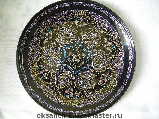 """Тарелки ручной работы. Ярмарка Мастеров - ручная работа. Купить Тарелка """"Мерцание Востока"""". Handmade. Тарелка, посуда, черный"""