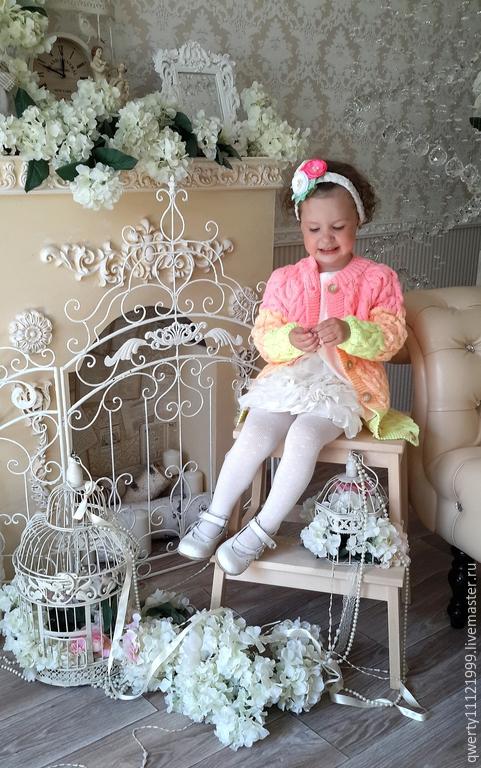"""Одежда для девочек, ручной работы. Ярмарка Мастеров - ручная работа. Купить Кардиган-пальто """"LALI"""" для девочки. Handmade. Розовый"""