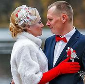 """Вуалетка свадебная """"Пламя страсти"""""""