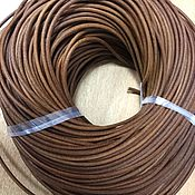 Шнуры ручной работы. Ярмарка Мастеров - ручная работа Шнур кожаный, светло-коричневый , 3 мм. Handmade.