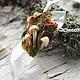 """Кулоны, подвески ручной работы. Ярмарка Мастеров - ручная работа. Купить Кулон """"Deep in the forest"""" из горного хрусталя и полимерной глины. Handmade."""