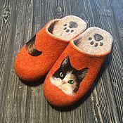 Обувь ручной работы handmade. Livemaster - original item Felted Slippers. Felted Slippers