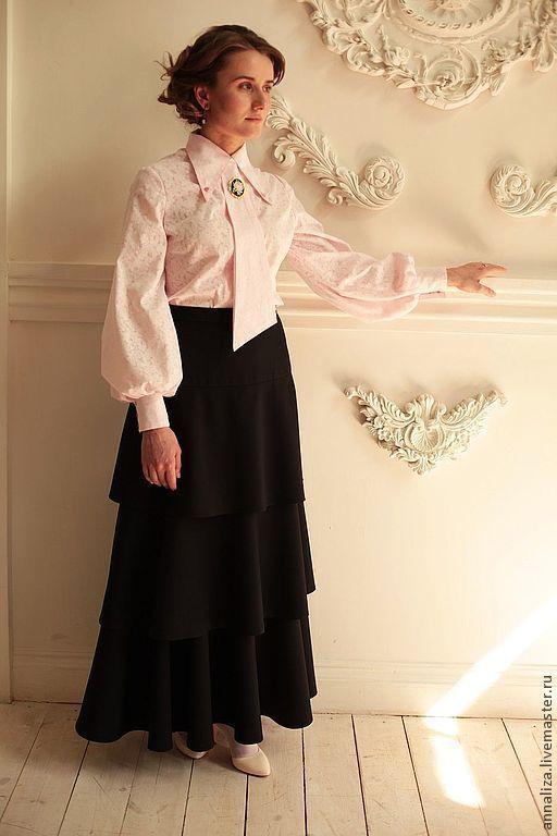 """Блузки ручной работы. Ярмарка Мастеров - ручная работа. Купить Женская блузка с галстуком """"Пудра"""". Handmade. Женская одежда"""