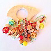 Куклы и игрушки ручной работы. Ярмарка Мастеров - ручная работа Игрушка для малыша грызунок-погремушка Весёлая птичка. Handmade.