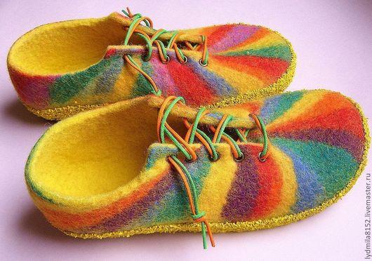 Обувь ручной работы. Ярмарка Мастеров - ручная работа. Купить туфли Радуга. Handmade. Обувь ручной работы