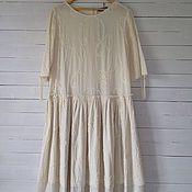 Одежда ручной работы. Ярмарка Мастеров - ручная работа Бохо платье цвета топленого молока. Handmade.