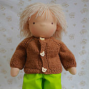 Куклы и игрушки handmade. Livemaster - original item Waldorf doll - boy Andrey, 40 - 42 cm. Handmade.