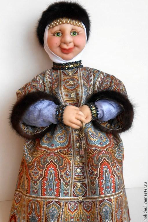 Человечки ручной работы. Ярмарка Мастеров - ручная работа. Купить БАРЫНЯ - СУДАРЫНЯ. Handmade. Коллекционные куклы, человечки, кукла в подарок