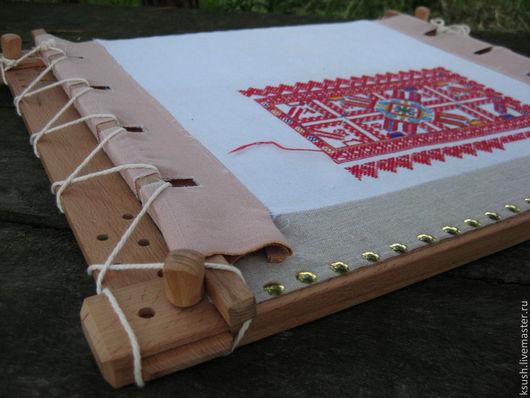 Вышивка ручной работы. Ярмарка Мастеров - ручная работа. Купить Рама для вышивки. Пяльца для вышивки (пяла). Handmade. Бежевый, Пяльца