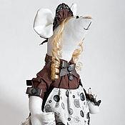 Куклы и игрушки ручной работы. Ярмарка Мастеров - ручная работа Мышка-швея. Интерьерная мышка-рукодельница.. Handmade.