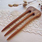 Украшения ручной работы. Ярмарка Мастеров - ручная работа Заколка деревянная резная, ироко. Handmade.