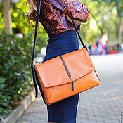 Сумка почтальона ручной работы. Ярмарка Мастеров - ручная работа Гарри Поттер сумка мессенджер женская кожаная оранжевая. Handmade.