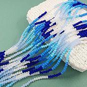 Материалы для творчества handmade. Livemaster - original item Thread 23 cm Faceted Rondel 3x2.5. 5604 mm matte mix of colors (). Handmade.