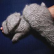 Аксессуары handmade. Livemaster - original item Women`s knitted mittens-transformers Baltic wind. Handmade.