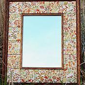 Для дома и интерьера ручной работы. Ярмарка Мастеров - ручная работа Интерьерное зеркало с травами и птицами.. Handmade.