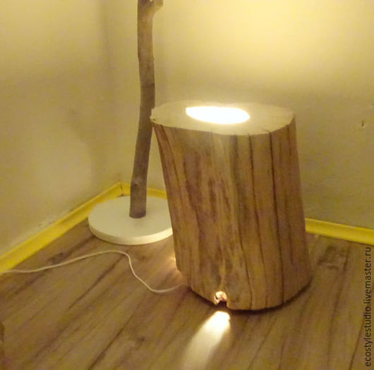 Освещение ручной работы. Ярмарка Мастеров - ручная работа. Купить Пенек светильник / Свет Лофт от Lofteco. Handmade. Белый