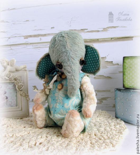 Мишки Тедди ручной работы. Ярмарка Мастеров - ручная работа. Купить Слоник Блу. Handmade. Бирюзовый, слоник купить, подарок