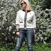 Одежда ручной работы. Ярмарка Мастеров - ручная работа Жакет осенний в стиле Шанель.. Handmade.