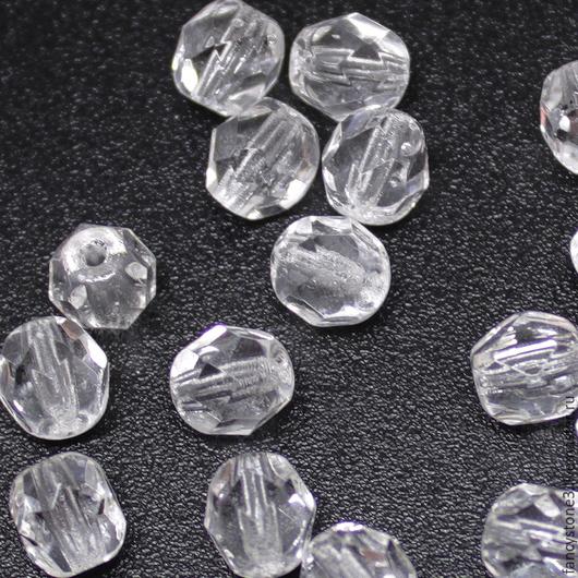 Для украшений ручной работы. Ярмарка Мастеров - ручная работа. Купить 30шт 6мм Чешские граненые бусины кристалл Fire polished beads. Handmade.