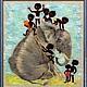 Животные ручной работы. Ярмарка Мастеров - ручная работа. Купить Слоник. Handmade. Картина для детской, слоник, Сухое валяние