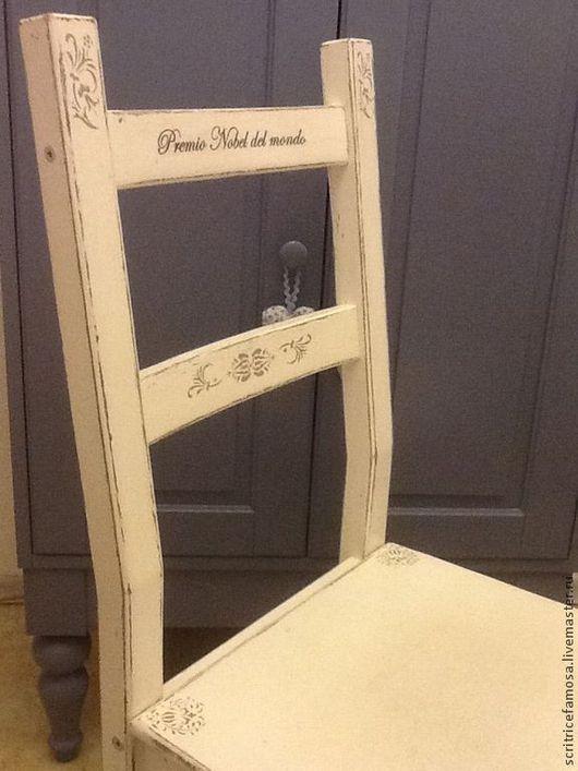 Мебель ручной работы. Ярмарка Мастеров - ручная работа. Купить Стул в стиле Шебби Шик. Handmade. Белый, состаренный стиль