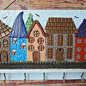 Для дома и интерьера handmade. Livemaster - original item Housekeeper Summer in the City 1. The housekeeper wall. decor polymer clay.. Handmade.