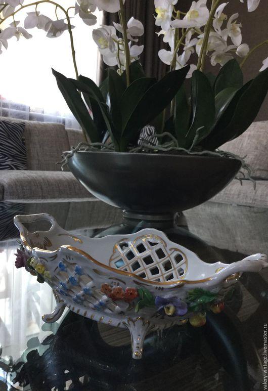Винтажная посуда. Ярмарка Мастеров - ручная работа. Купить Антикварный салатник (конфетница), Германия, 1901г.. Handmade. Комбинированный, винтажный салатник