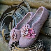 """Обувь ручной работы. Ярмарка Мастеров - ручная работа Валяные тапочки """"Розовые сны"""". Handmade."""