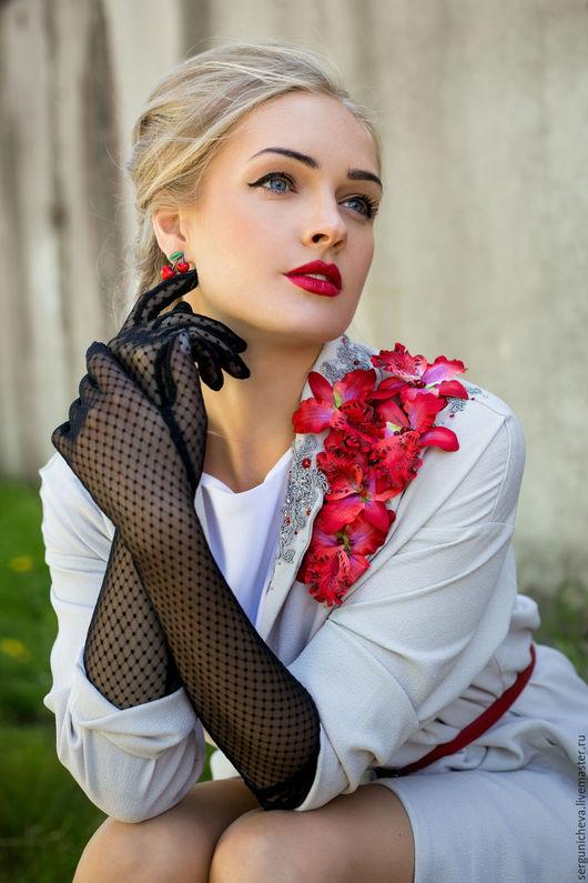 """Верхняя одежда ручной работы. Ярмарка Мастеров - ручная работа. Купить Плащ""""Royal Lily"""". Handmade. Цветочный, ретро стиль"""