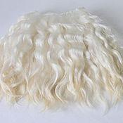 Doll hair handmade. Livemaster - original item Mohair tress (white, unpainted) (Hair Curls for dolls white). Handmade.