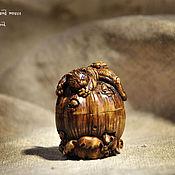 Для дома и интерьера ручной работы. Ярмарка Мастеров - ручная работа Шкатулка из самшита Кот и мыши. Handmade.