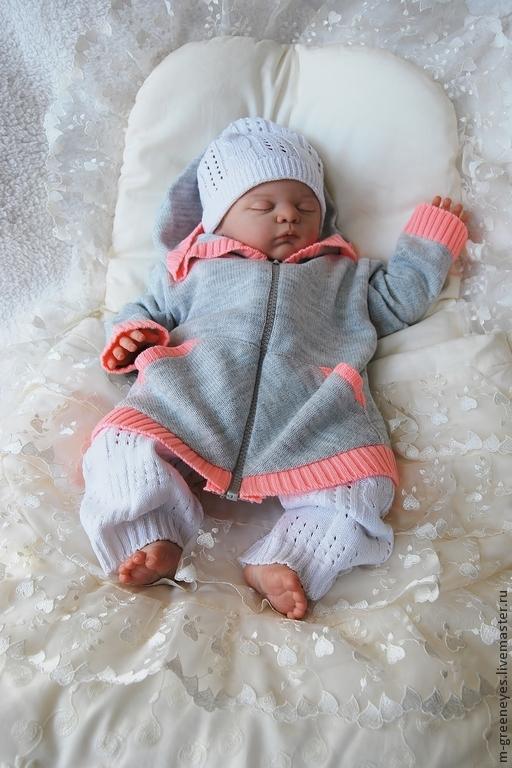 """Одежда ручной работы. Ярмарка Мастеров - ручная работа. Купить Комплект """"Нежный малыш"""". Handmade. Белый, Костюм для ребенка"""