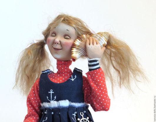 Коллекционные куклы ручной работы. Ярмарка Мастеров - ручная работа. Купить Авторская кукла. Море внутри.. Handmade. Комбинированный, полоски