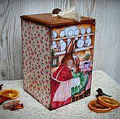 """Для дома и интерьера ручной работы. Ярмарка Мастеров - ручная работа Короб для хранения """"Сладкоежки"""", короб для сладостей. Handmade."""